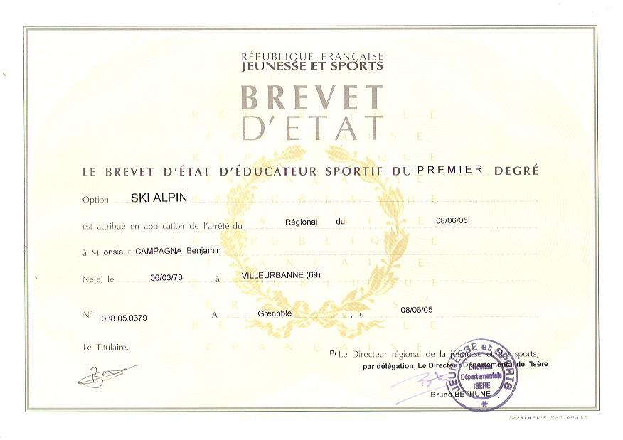 BREVET D'ETAT